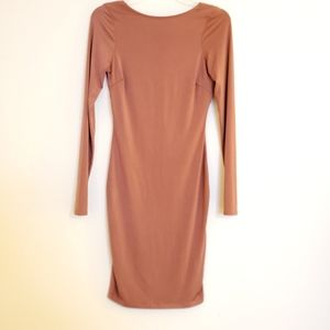 Windsor Terracotta Openback Longsleeve Dress